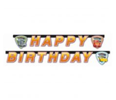 Písmenkový banner Happy Birthday Cars